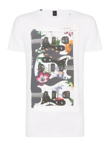 Replay Colourful printed jersey T-shirt