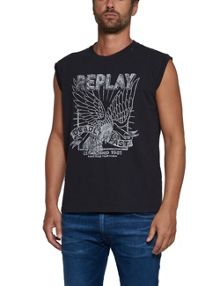 Replay Letter-print tank top