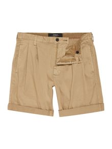 Replay Solid stretch satin bermuda shorts