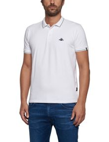 Replay Solid stretch pique polo shirt