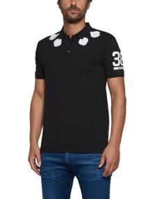Replay Stretch pique polo shirt with patches