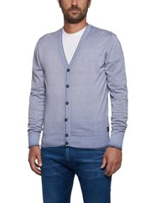 Replay Faded-colour cotton cardigan