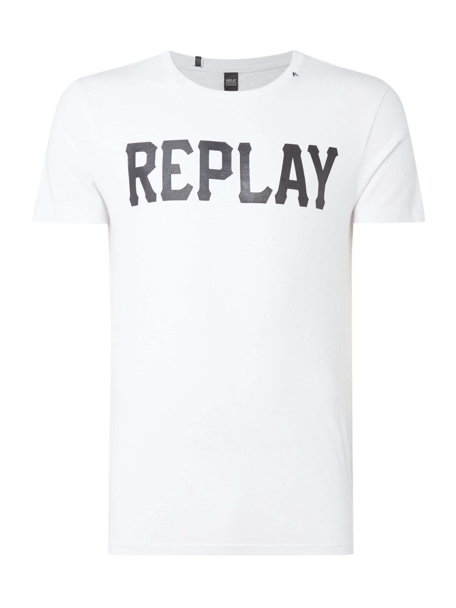 Men's Replay Slub Jersey T-Shirt, Optical White