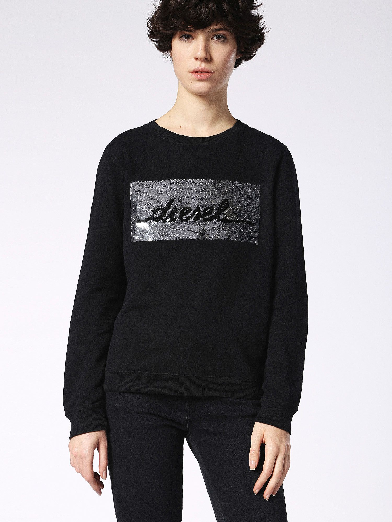 Diesel F-Radi-Ae Sweat-Shirt, Black