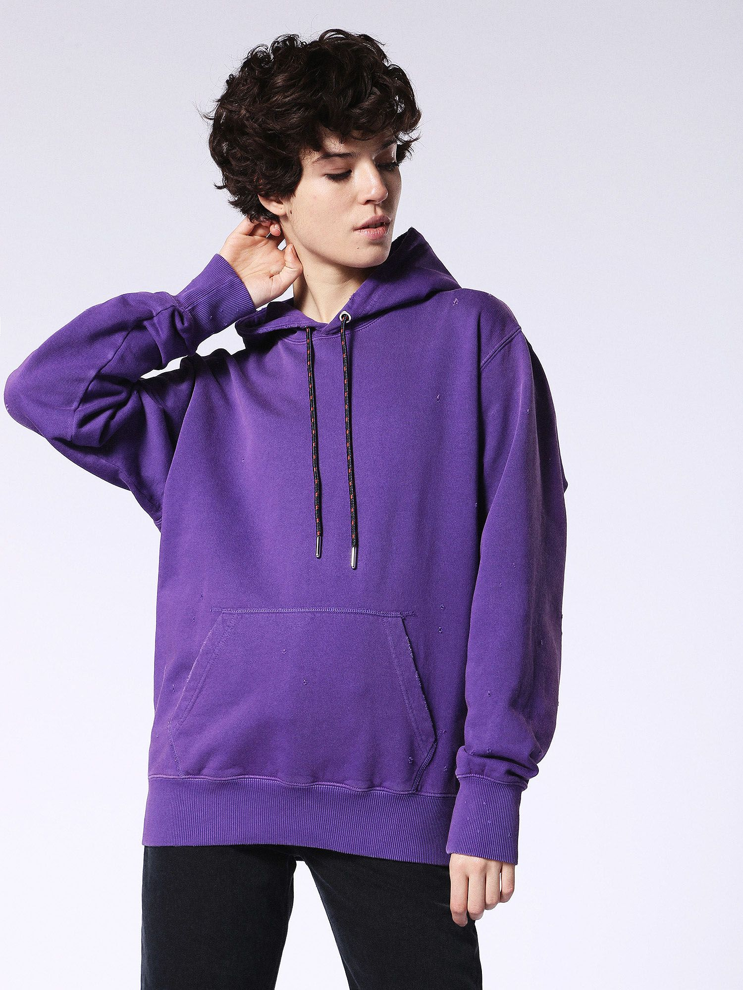 Diesel F-Palms-Fl Sweat-Shirt, Purple