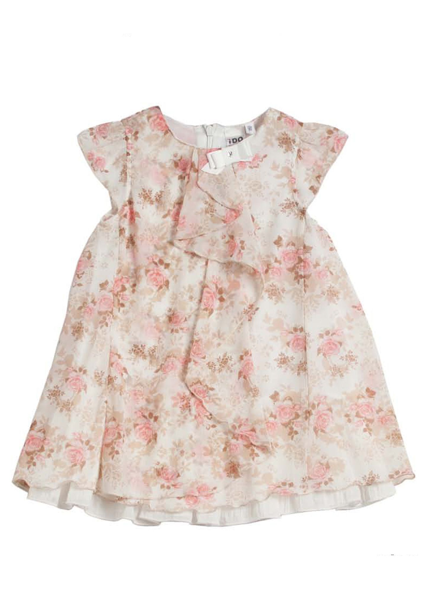 Girls flowery printed chiffon dress