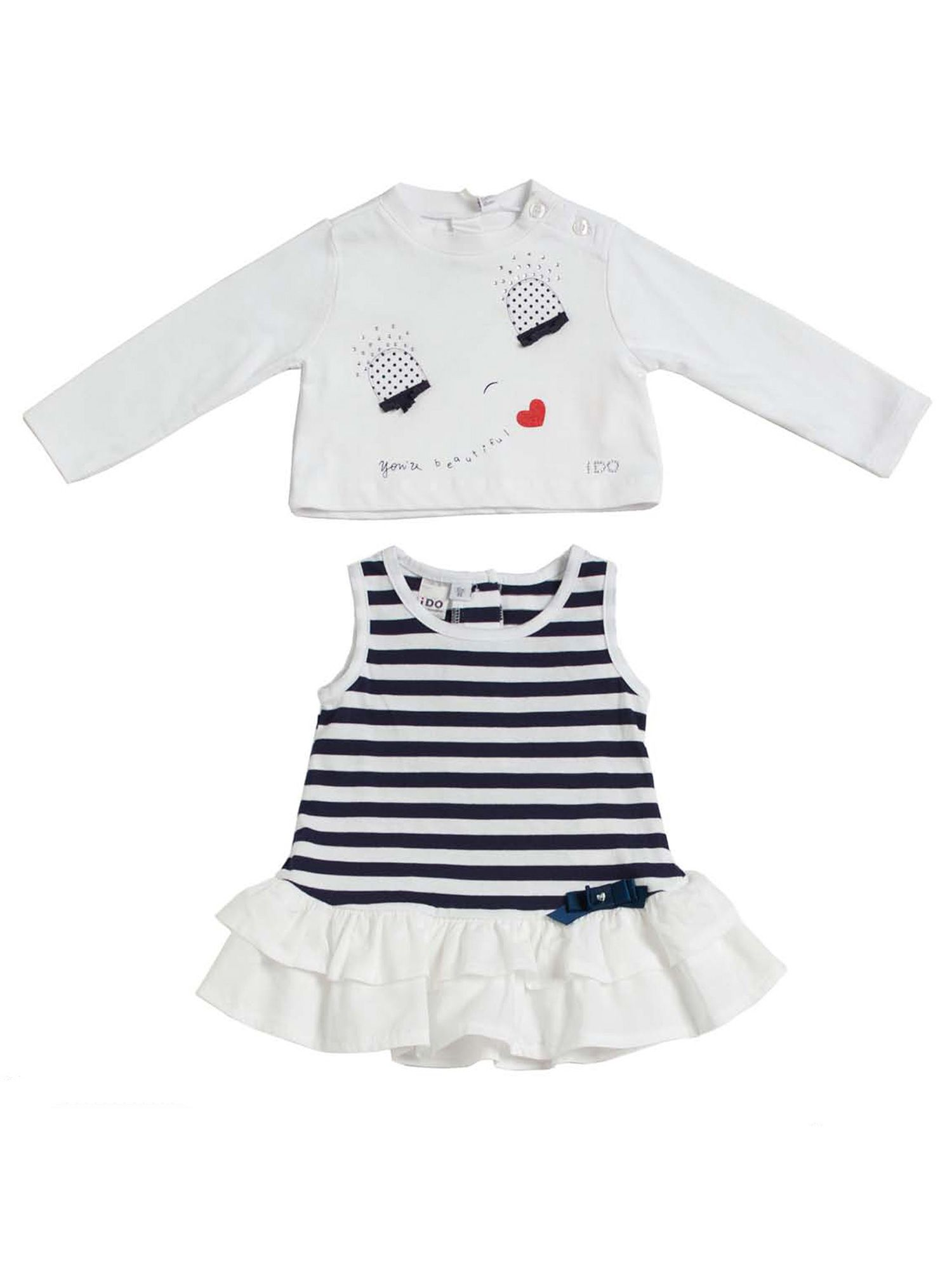 Girls t-shirt and dress set