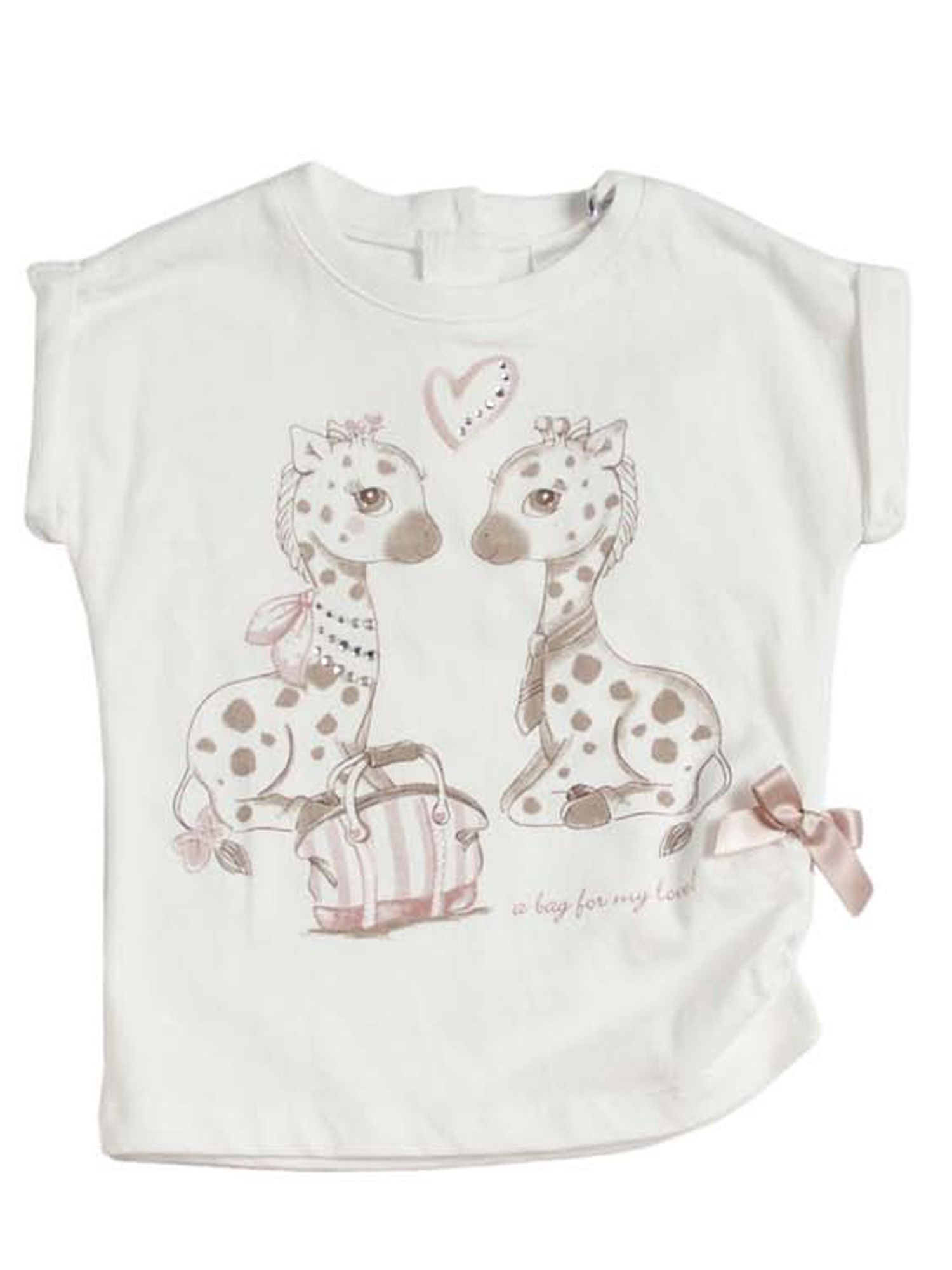 Girls camouflage printed t-shirt
