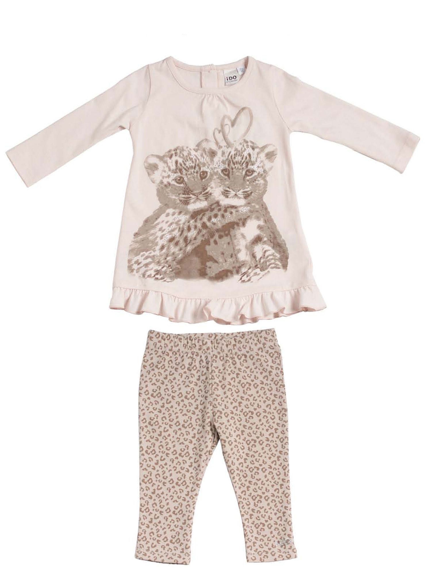 Girls camouflage top and leggings set
