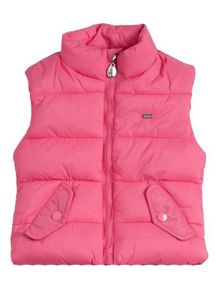 Girls padded fuxia gillet