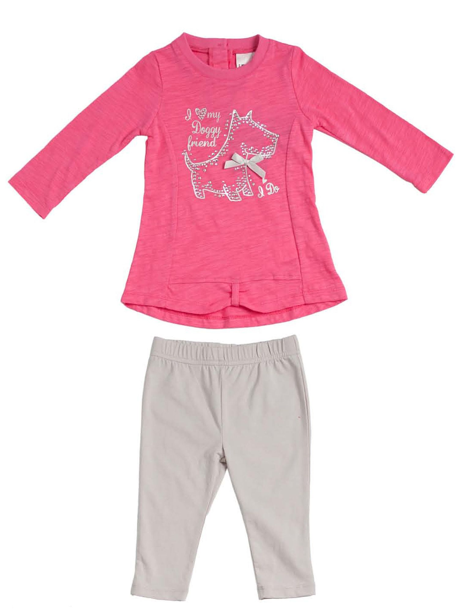 Girls long sleeve top and leggings set