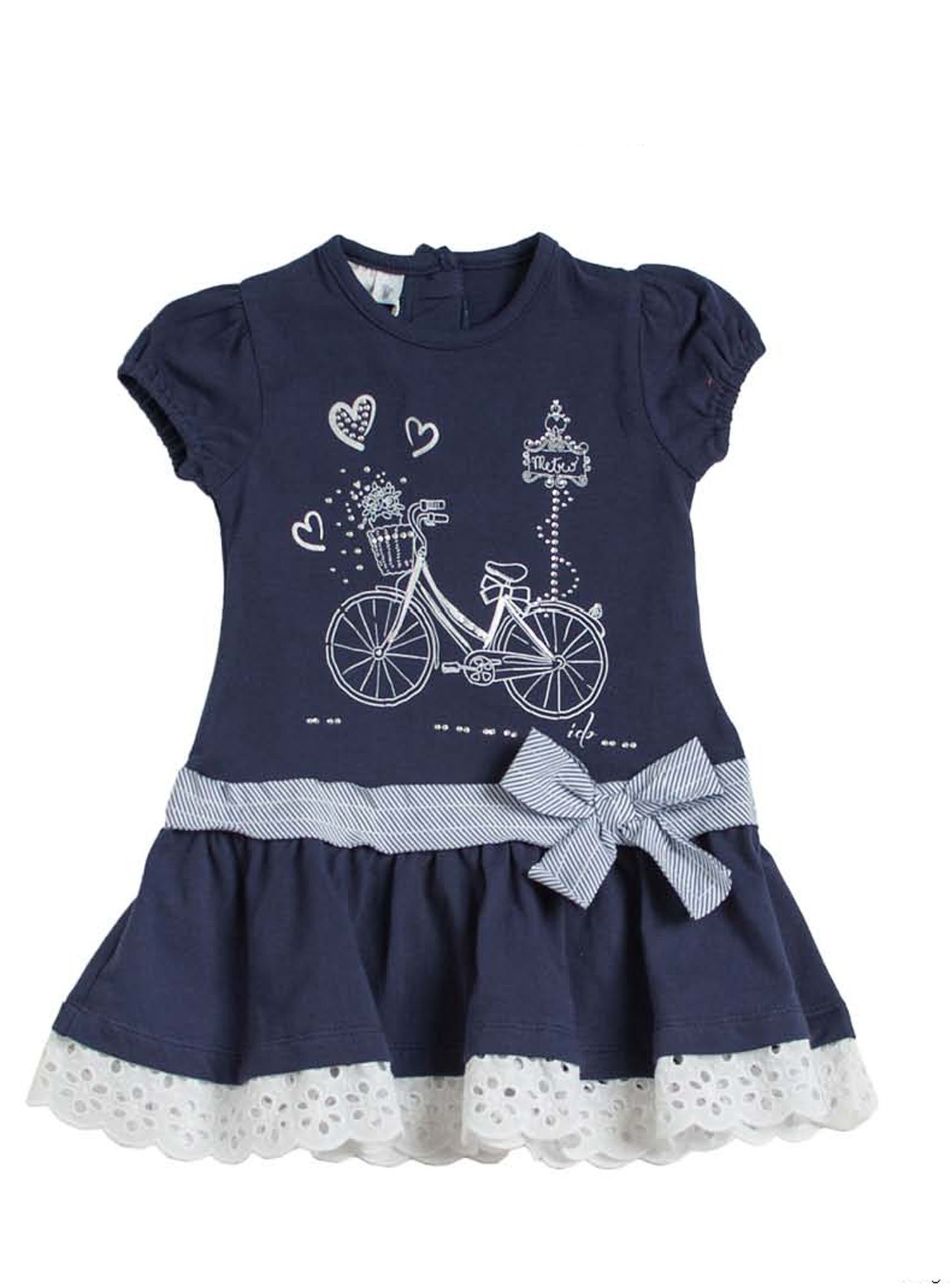 Girls bicycle print dress