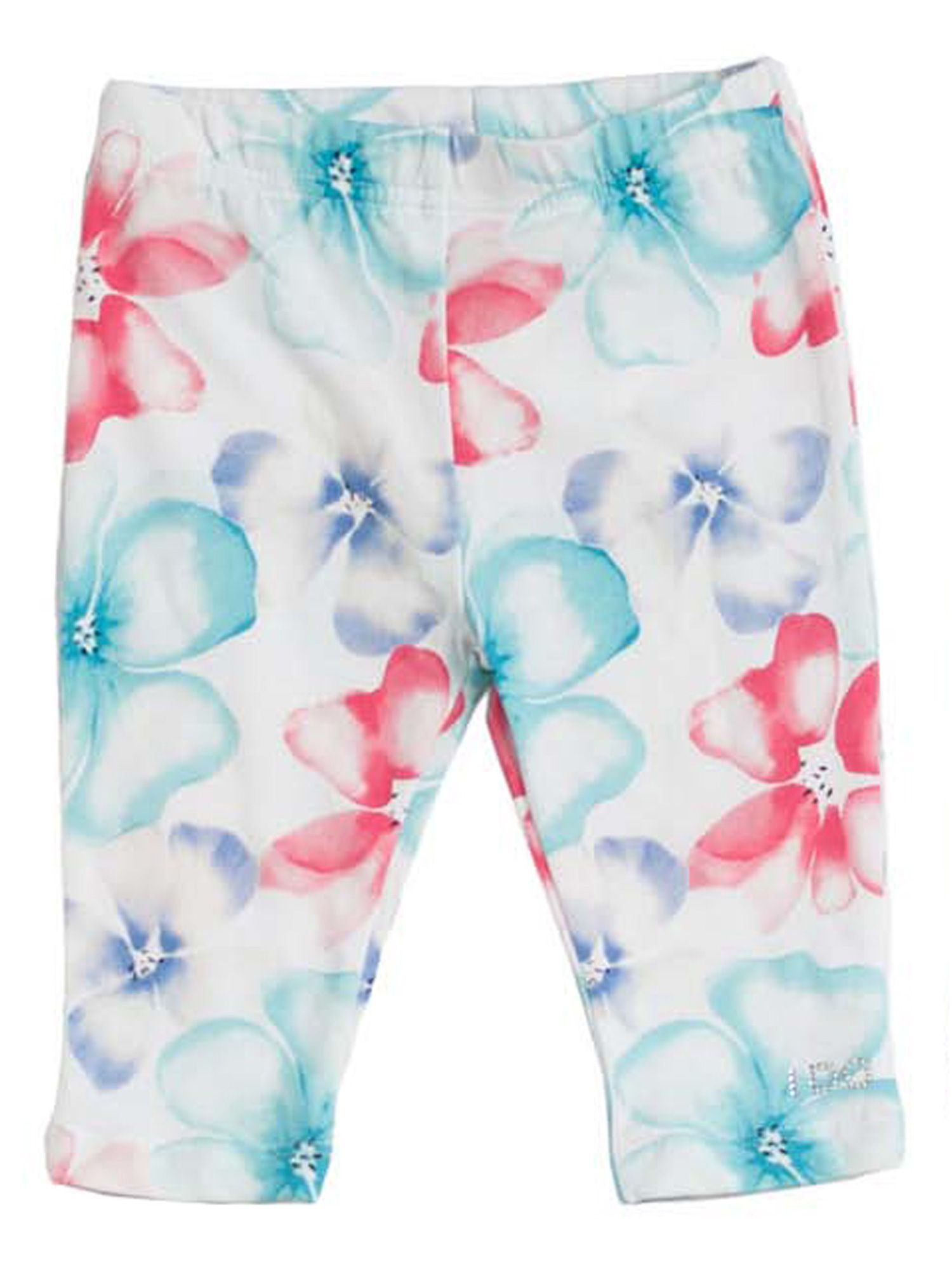 Girls flowery printed stretchy leggings