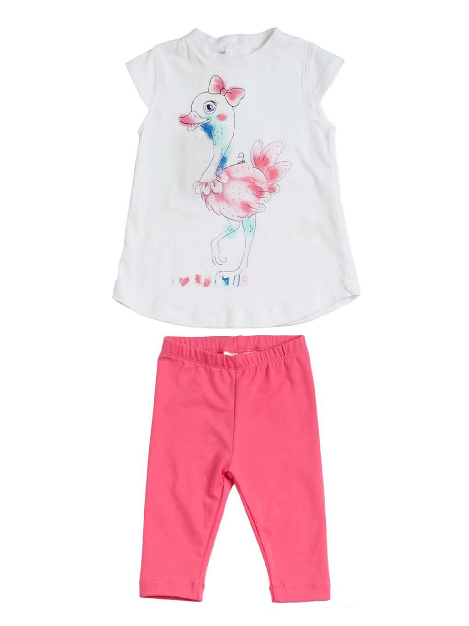 Girls strechy t-shirt and legging set
