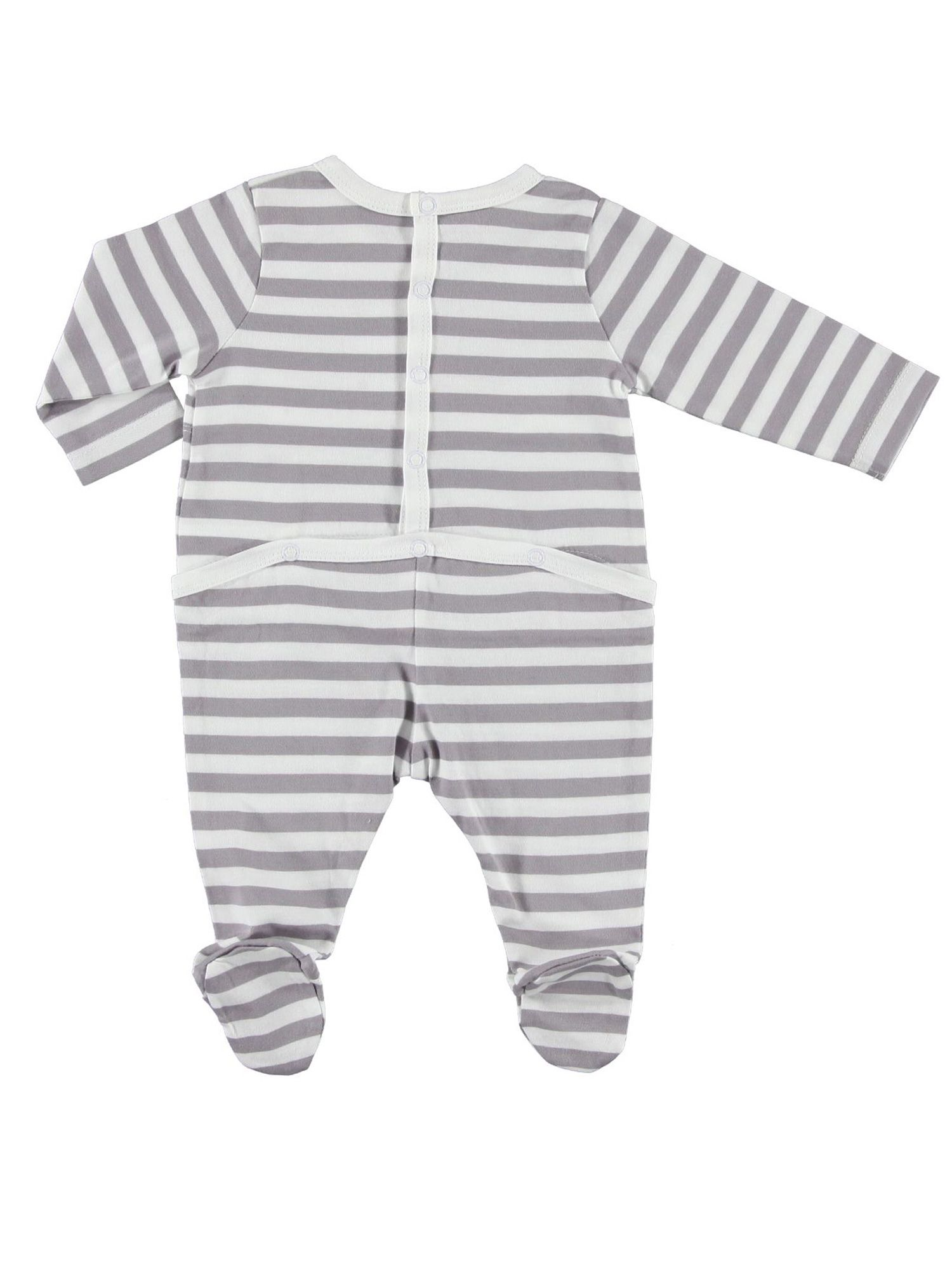 Boys striped cotton all in one