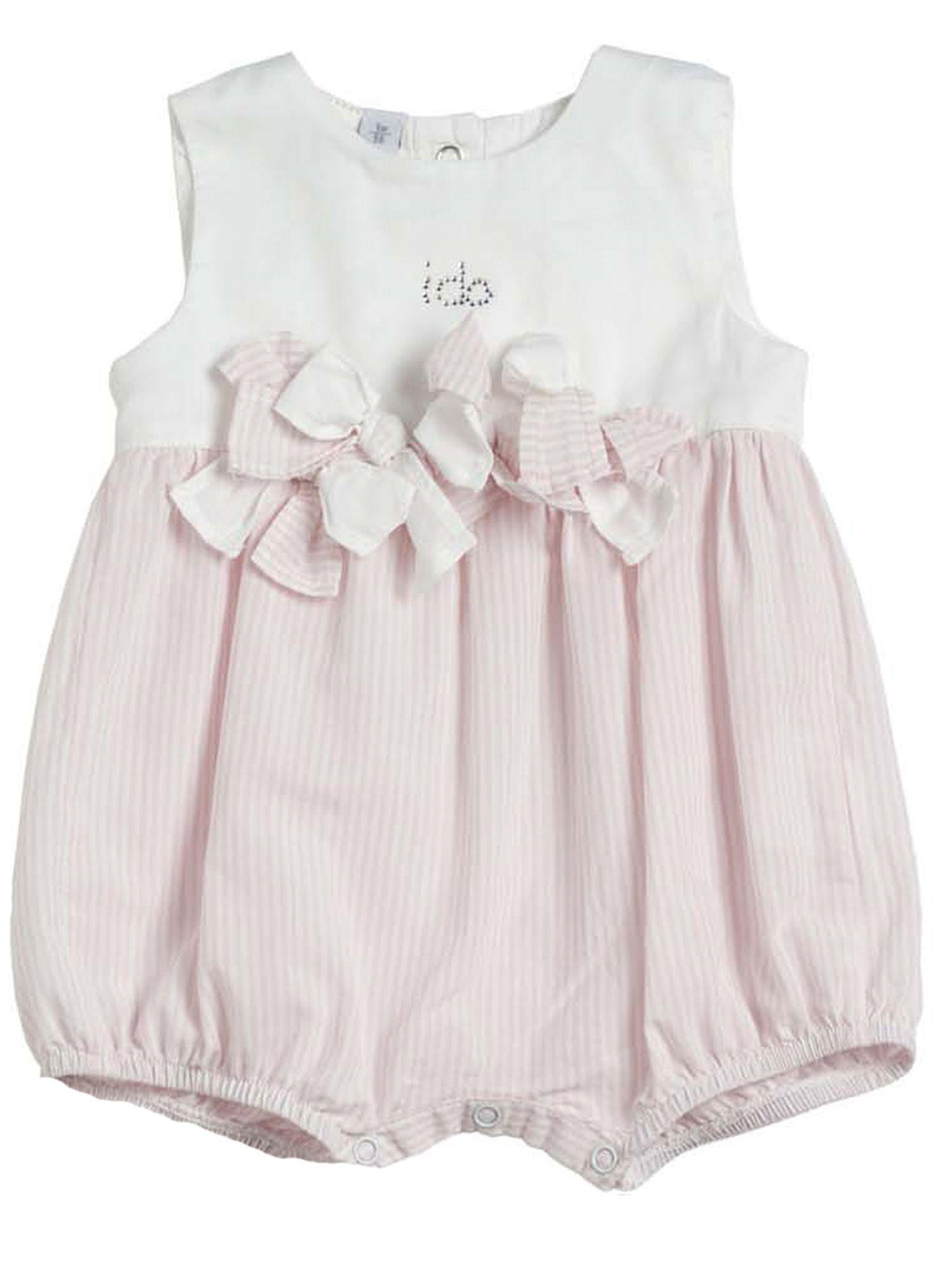 Baby girls pink cotton shorts all in one