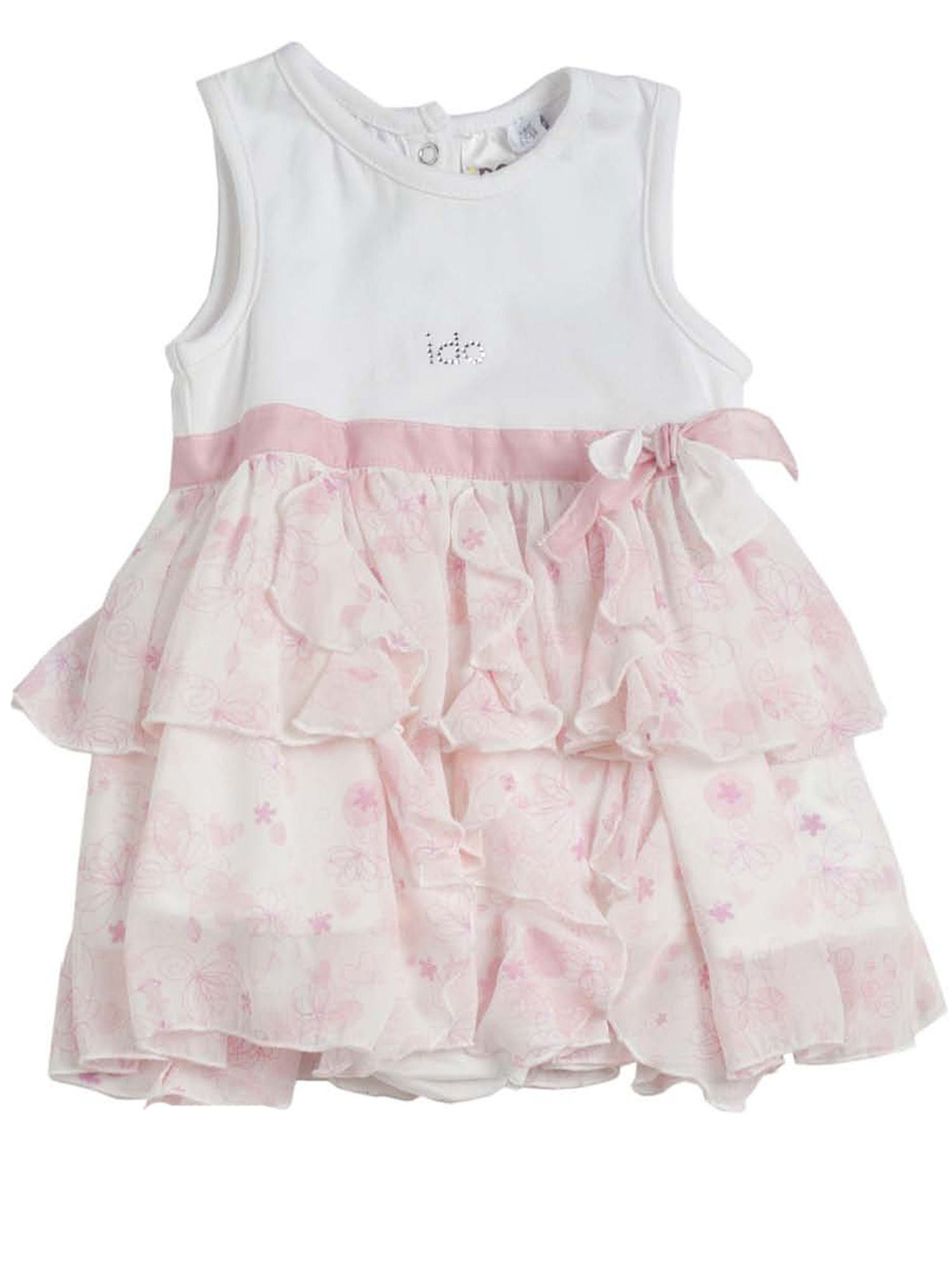 Baby girls pink chiffon dress with knickers