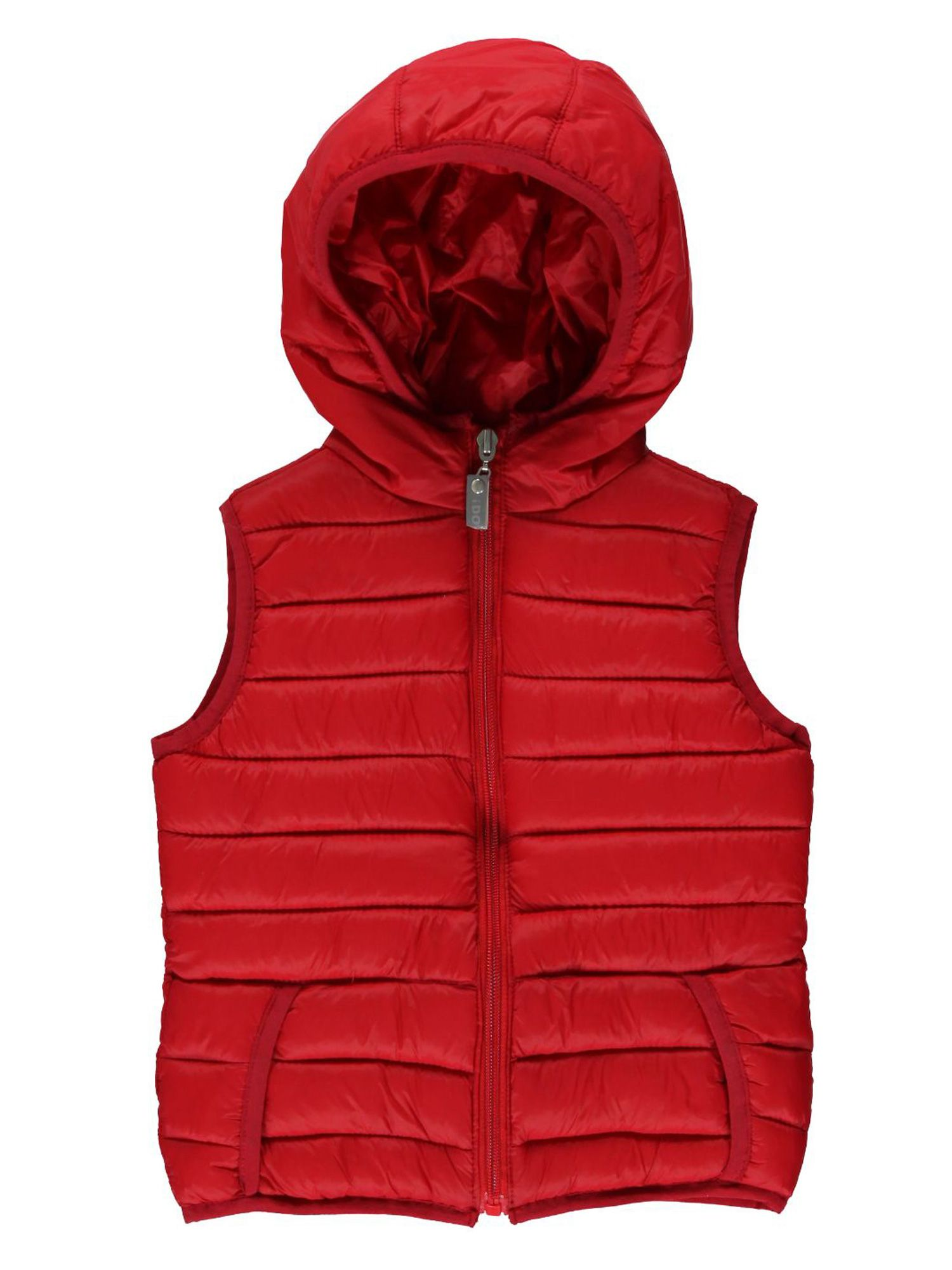 Boys quilted hooded gillet