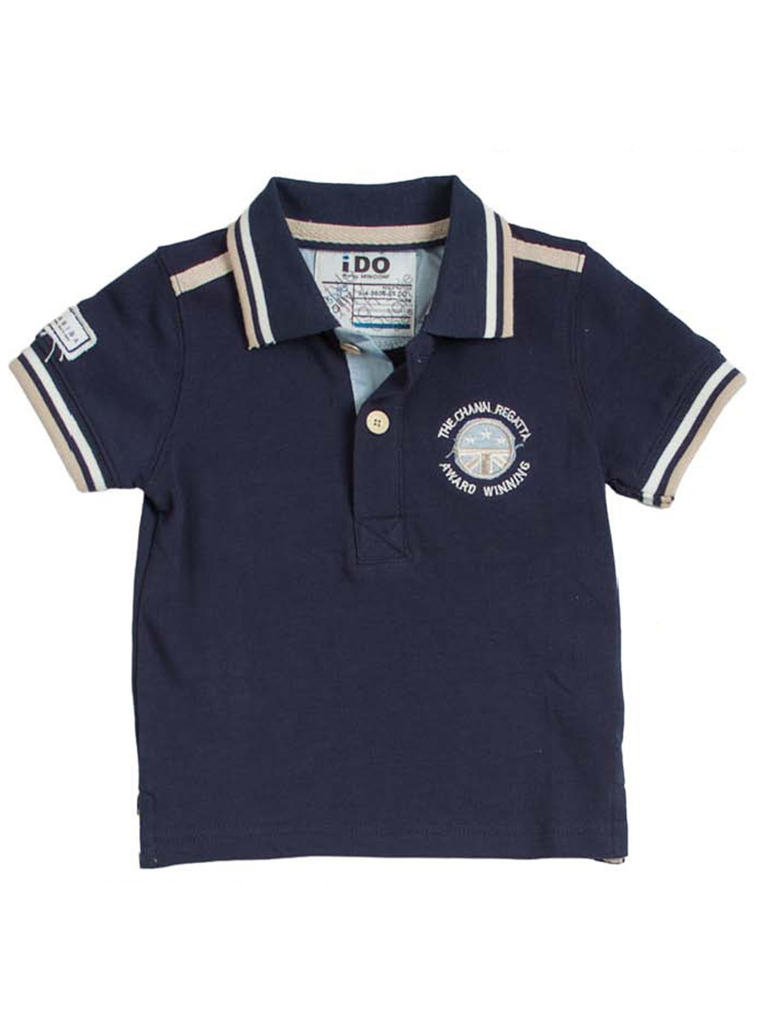 Boys front and back printed polo shirt