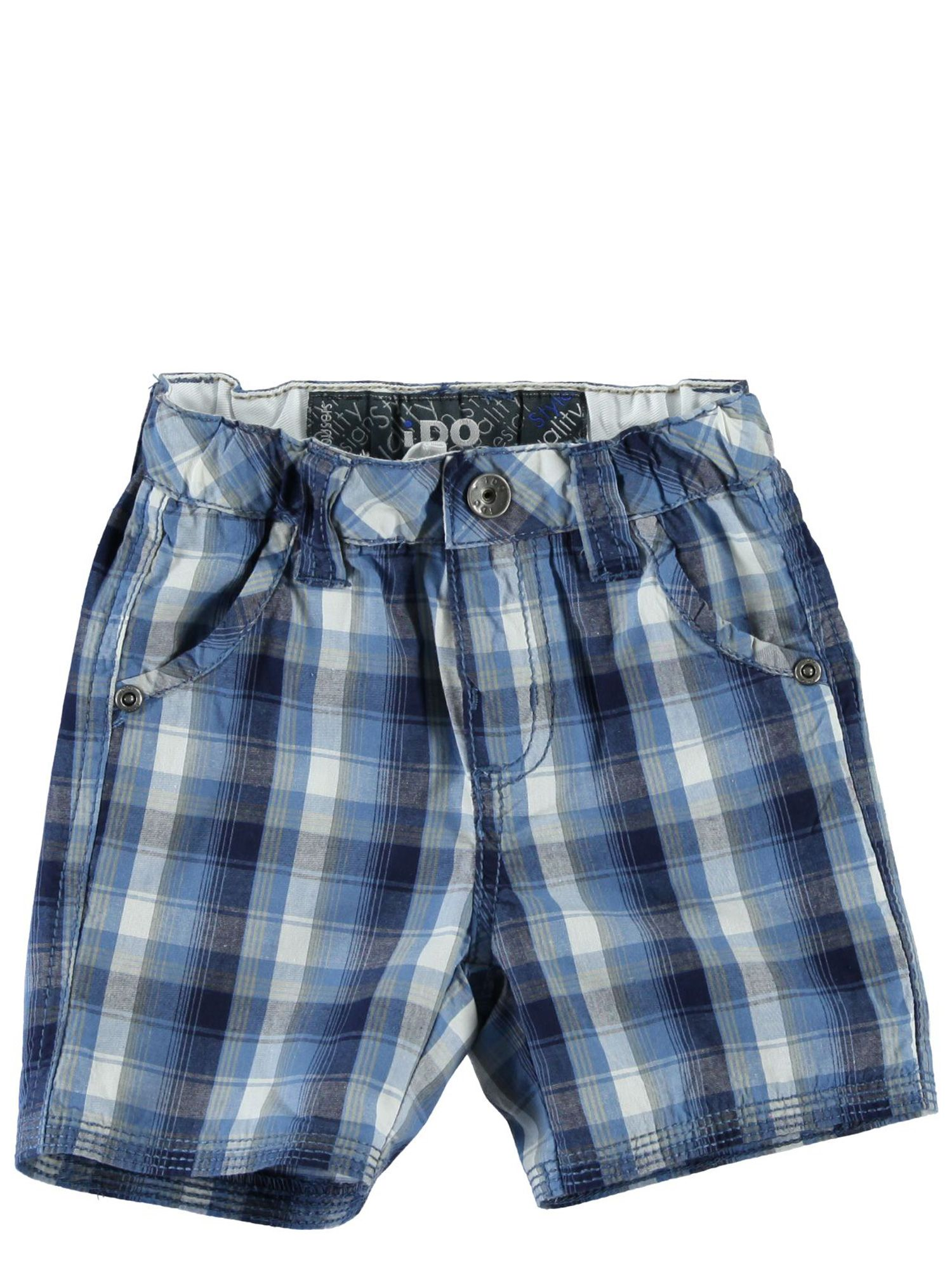 Boys checked printed bermuda shorts