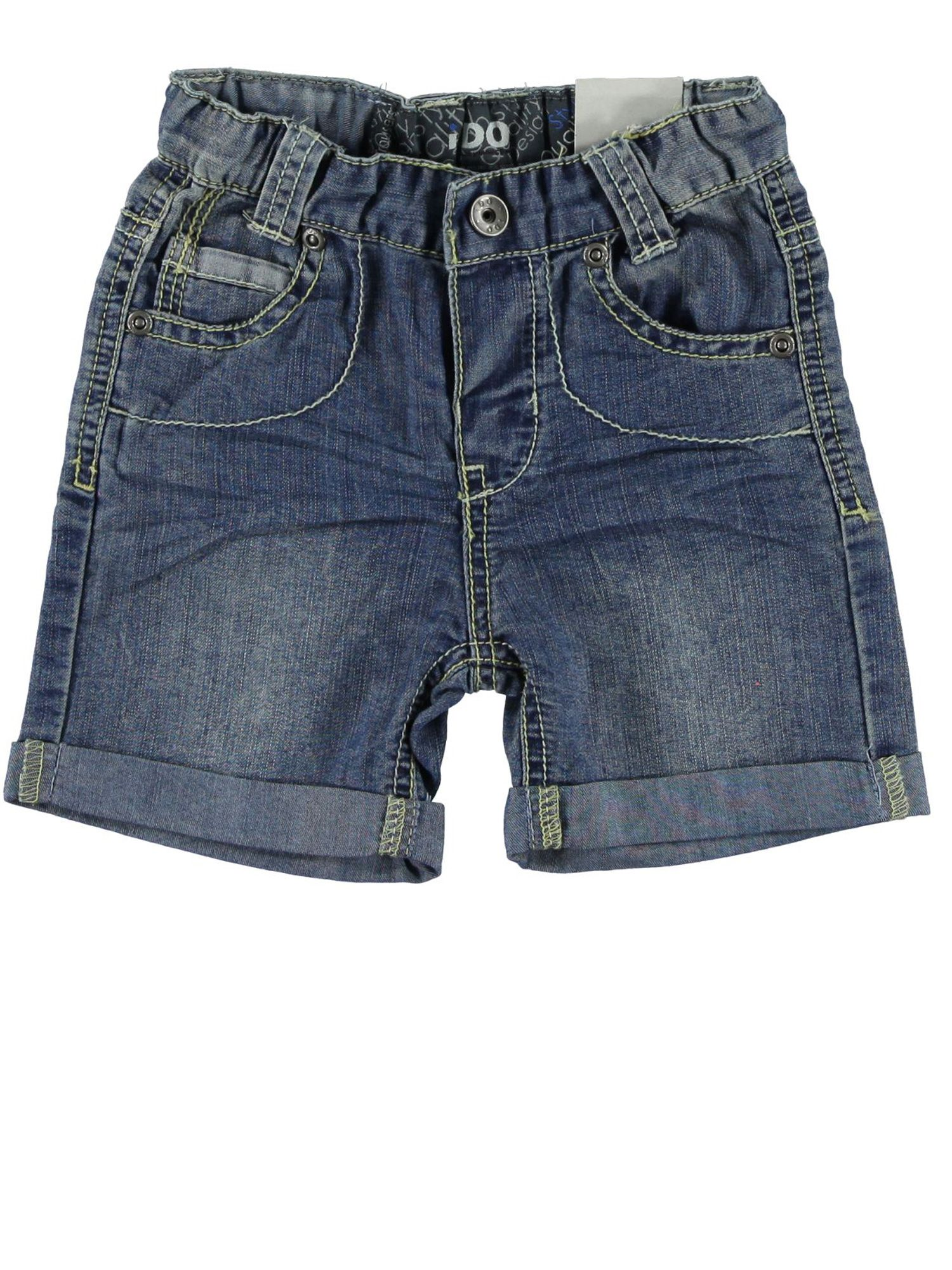 Boys stone washed denim bermuda shorts