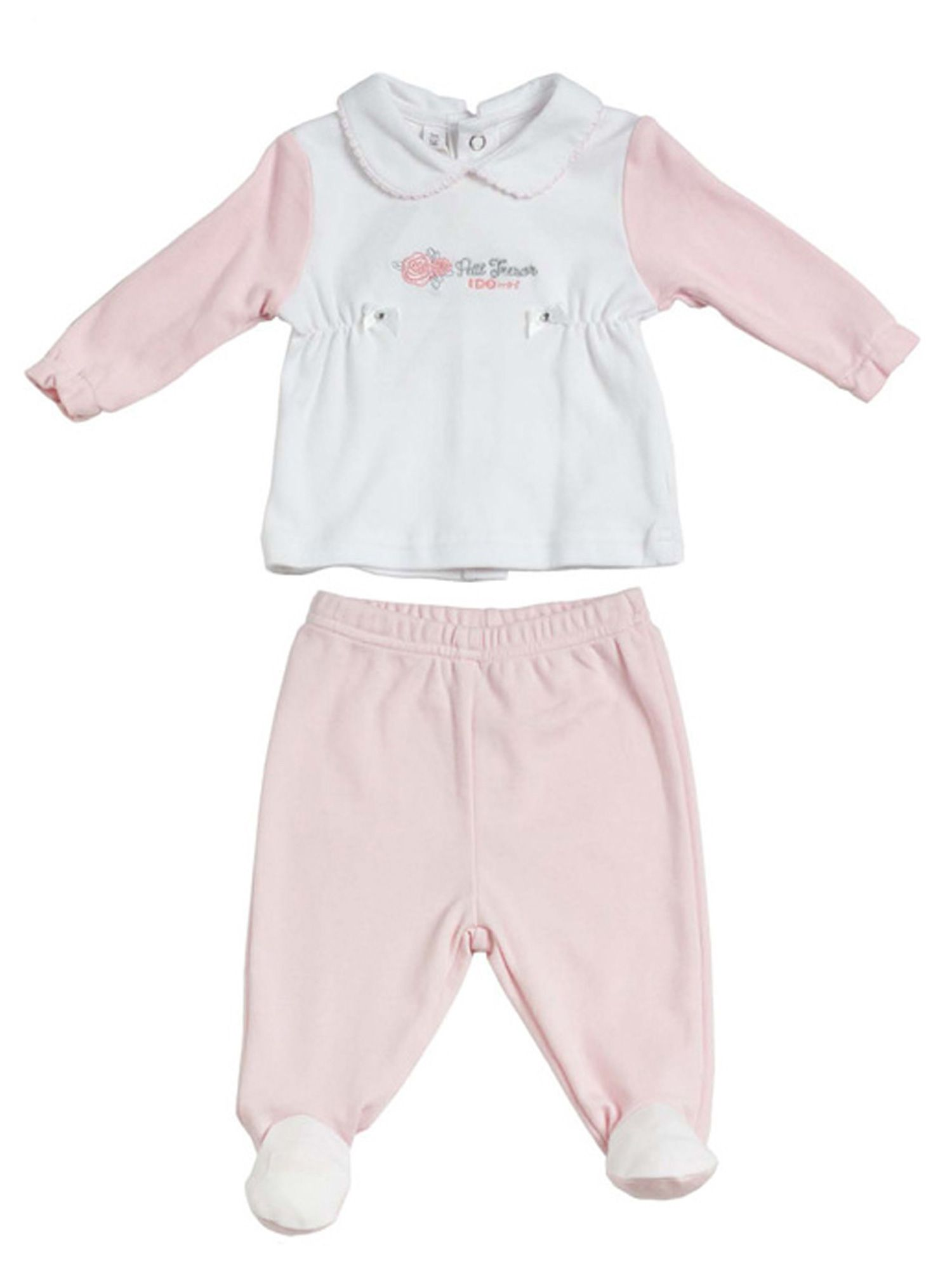 Baby girls fleece top and joggers set