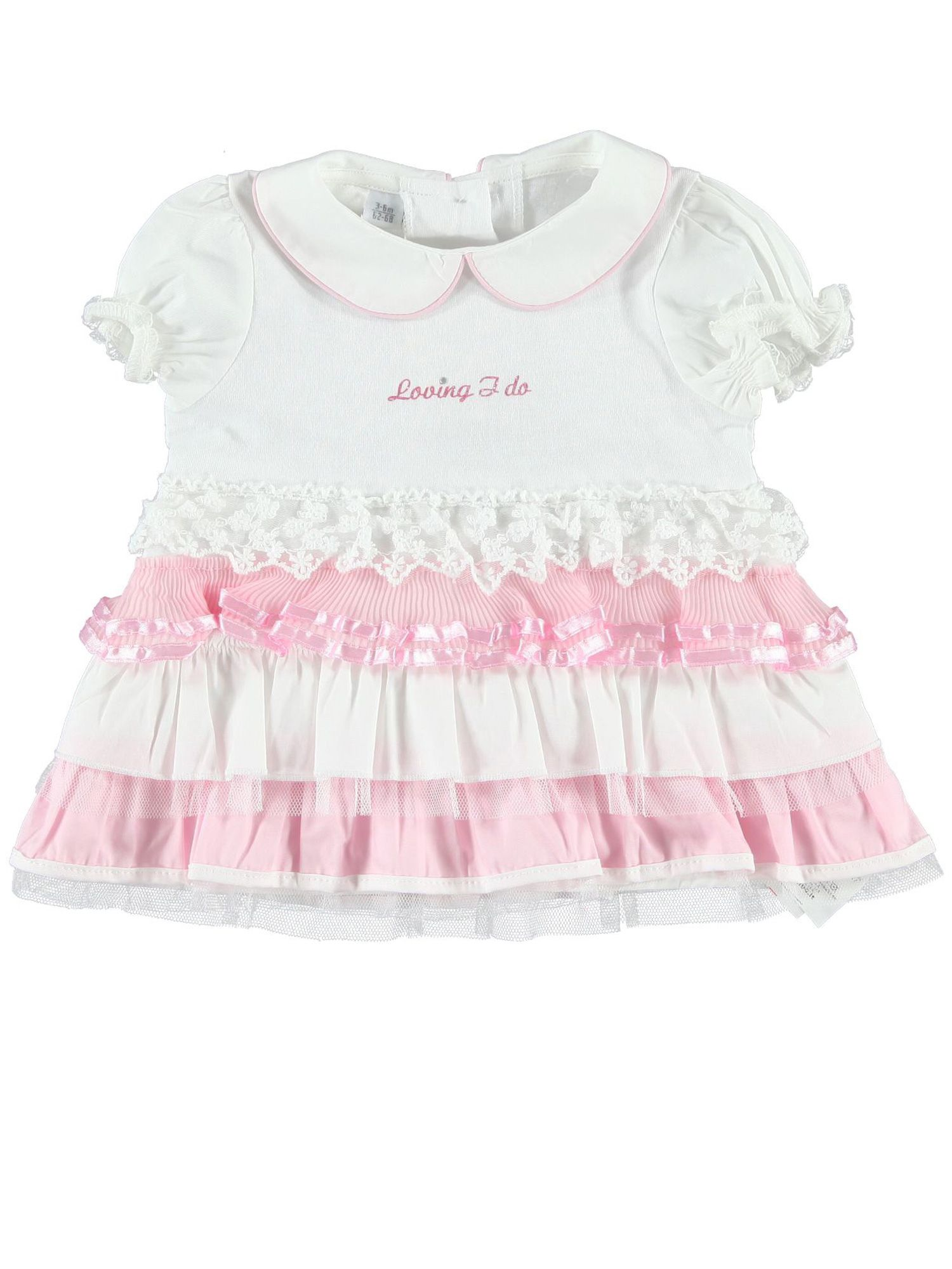 Baby girls cotton frilled dress