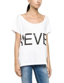 Replay wide neck T-shirt with print