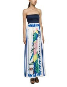 Replay Pleated empire cut long dress