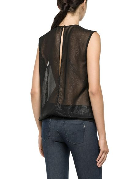 Replay Blouse in embossed voile