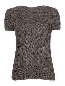 Knitted linen pullover