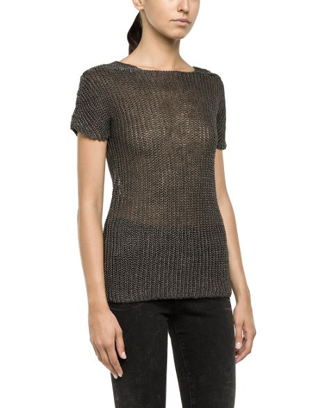 Replay Knitted linen pullover