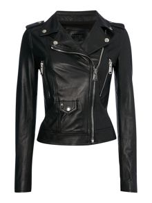Replay Studded leather jacket