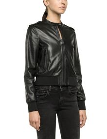 Lambskin leather bikers jacket