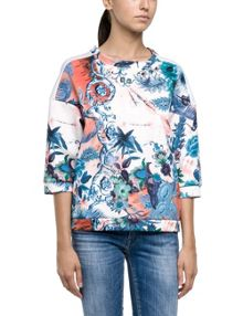 Neoprene printed sweatshirt