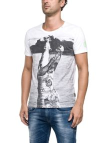 Replay T-shirt with maxi photographic print