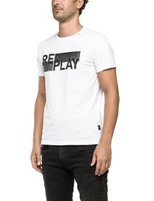 Replay T-shirt with Replay print, round neck