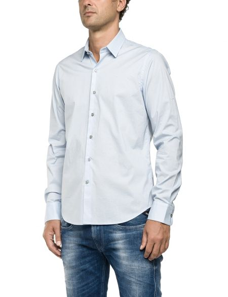 Replay Strtch poplin shirt