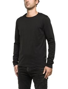 Replay Long-sleeve jersey T-shirt, round neck