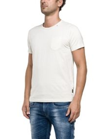 Replay Jersey T-shirt with pocket, round neck