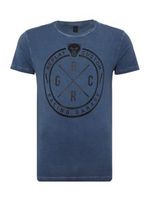 Replay Jersey T-shirt with coated fabric