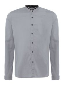 Replay Mandarin collar Popeline shirt