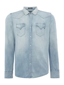 Replay Light blue denim shirt