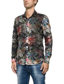 Replay Printed muslin shirt