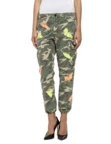 Replay Camouflage pants with patch