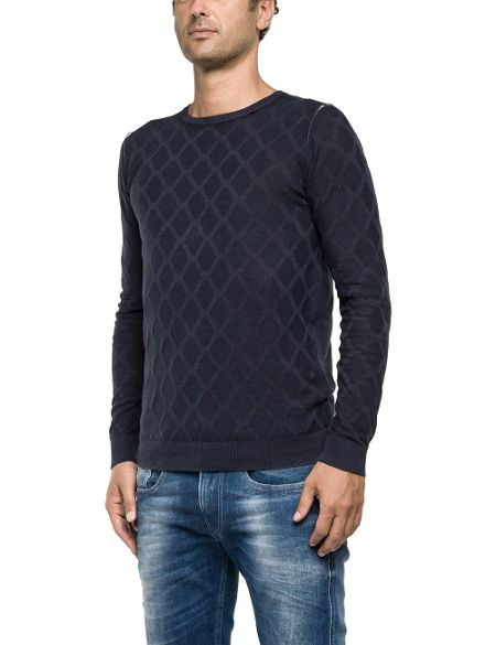 Replay Round neck mesh
