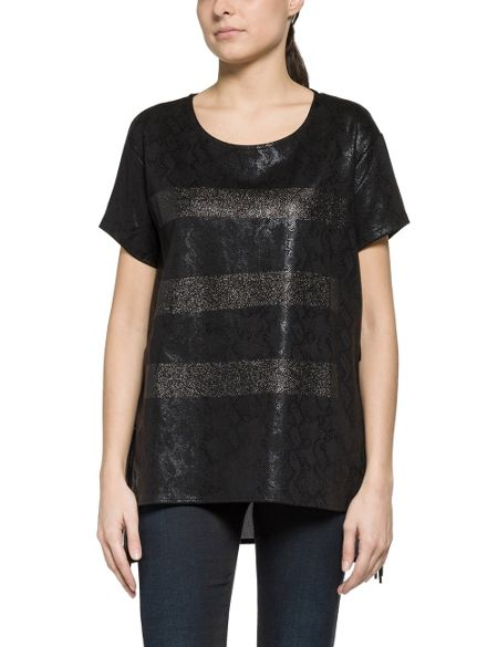 Replay Snakeskin Print T-Shirt
