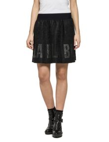 Replay Short Printed Lace Skirt