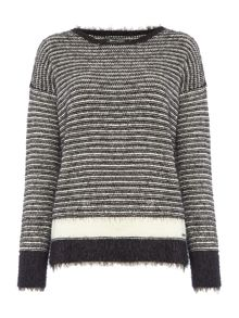 Replay Striped Mohair Jumper