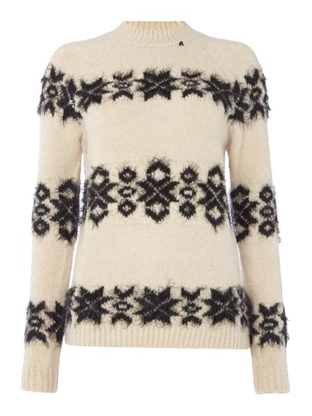 Replay Wool Blend Jumper With Embroidery